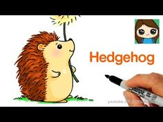 How to Draw a Hedgehog Easy - YouTube