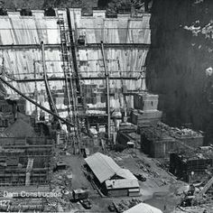 This pic of the Hoover Dam under construction falls under the political category. This is because it was Herbert Hoover's idea to make the Dam, which would create jobs Hoover Dam Construction, Under Construction, Emotional Pictures, Old Vegas, Boulder City, State Of Arizona, Colorado River, Time Photo, Us History