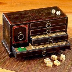 Five-Drawer Mahjong Box and Game Set