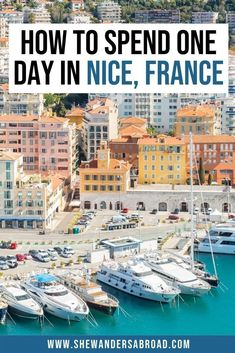 You have only one day in Nice for sightseeing? Don't worry, I got you covered! Follow this Nice itinerary to see the best of the city in just 24 hours! #nice #frenchriviera #shewandersabroad   France Travel Tips   Nice France Travel Tips   Best things to do in Nice France   Nice France Photography Ideas   French Riviera Photography   Best beach in Nice France   What to do in Nice France   Where to stay in Nice France   Castle Hill Nice   Old Town Nice France   Nice France Itinerary for one… Europe Travel Tips, European Travel, Travel Usa, Travel Goals, Travel Guides, Travel Destinations, France Photography, Visit France, Nice France