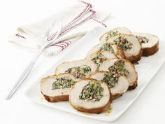 Turkey Roulade with Swiss Chard : This beautiful, unexpected twist on turkey is an amazing showstopper. And making it is easy with the roulade step-by-step from Food Network Magazine. Best Thanksgiving Turkey Recipe, Thanksgiving Ideas, Thanksgiving Leftovers, Turkey Roulade, Swiss Chard Recipes, Turkey Recipes, Turkey Dishes, Pork Recipes, Chicken Recipes