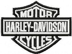 Free Harley Davidson Logo embroidery design for instant download