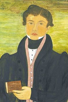 A portrait (detail) painted around 1830 and attributed to Ruth Whittier Shute and Dr. Samuel Addison Shute