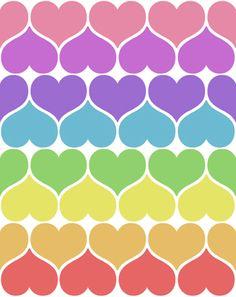 haerts in rainbowcolors