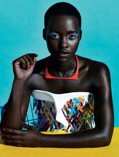 Lupita Nyong'o, photographed by Sharif Hamza For Dazed &...