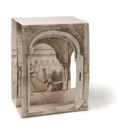 POSTAL POP-UP PATIO LEONES - Tienda librería de la Alhambra