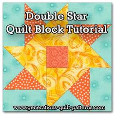 Double Star quilt block tutorial. Instructions for the block in three sizes. Check out our Free Quilt Block Patterns Library for more...