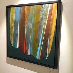 Mark Jessett, Gilt, 2017, acrylic on paper over board. 400x400mm.