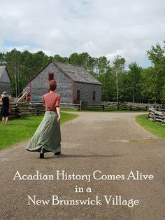 A glimpse into Acadian history at New Brunswick'sVillage Historique Acadien - Acadian Historical Village (VHA) showcases the daily lives of Acadians in New Brunswick over a period of several hundred years. New Brunswick Canada, Brunswick Maine, Cajun French, Acadie, Discover Canada, Canadian Travel, Atlantic Canada, Canadian History, Slow Travel