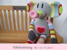 Häkelanleitung Rosine Elefant von Schneckenkind auf DaWanda.com