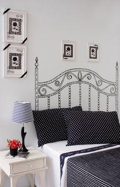 Cabeceira de cama de pontilhismo