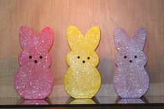 Wooden Peeps!  Cute enough to eat!