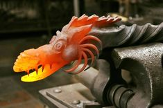 Wow! Forged Dragon head, such detail