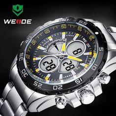 Weide Men's Luxury Quartz Sport Watch Analog Digital Analog Army Military Wrist Watches