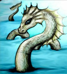 Sea serpent creature