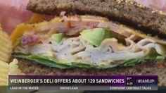 Weinberger's Deli offers 120 #sandwiches #GrapevineTX Diners, Deli, Grape Vines, Restaurants, Sandwiches, Texas, Plate, Chicken, Heart