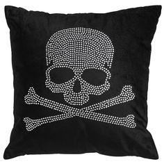 Beaded Skull Glam Pillow   Pier 1 Imports