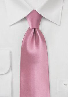 Roséfarbene Krawatte in Satin-Optik