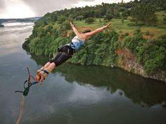 Bungee jumping over the Nile in Jinja, Uganda. African Holidays, Gorilla Trekking, Wild Waters, Nile River, Wildlife Safari, Whitewater Rafting, Bungee Jumping, Adventure Activities, Travel Companies