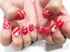 オソロイ❤️ 10本揃うとやっぱり可愛さ倍増❤️ #jillandlovers #nail #nailart #paragel #gelneil#gel #ネイル #ネイルアート #me #look #love #かわいい #バレンタイン