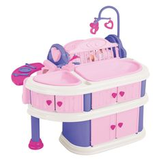 Another great find on American Plastic Toys Pink Deluxe Nursery Play Set by American Plastic Toys Baby Doll Nursery, Baby Doll Toys, Baby Alive Dolls, Nursery Toys, Little Girl Toys, Cool Toys For Girls, Baby Doll Accessories, Kids Playing, Christmas Wreaths