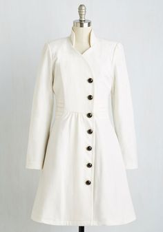 Outdoor Orchestra Coat in Ivory | Mod Retro Vintage Coats | ModCloth.com