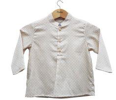 Camisa bebé rombos de Violeta e Federico