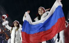Sochi 2014 Winter Olympics opening ceremony - Two of the Russian team members are given a rapturous reception by the home crowd!