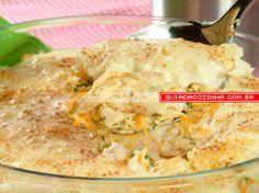 Receita de Escondidinho de frango com creme de queijo