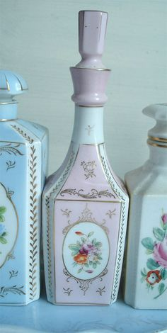 Vintage Perfume Bottles actually Shabby Chic from Target. I own the pink one. circa about 2004.