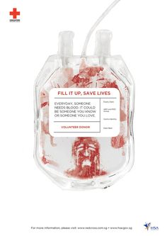 Blood Donation Advertising Campaign by Sabrina Lau, via Behance