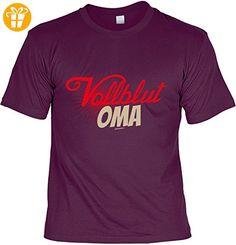 Oma Tshirt Sprüche - lustiges Funshirt Großmutter : Vollblut Oma -- Geschenk Geburtstag Oma T-Shirt Gr: L (*Partner-Link)