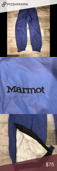 Marmot Shell Pants New! Never worn. Tags removed. Gorgeous color. Rear waist zipper pocket. Zips at ankles. Marmot Pants