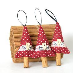 Natural Christmas Decor Reindeer Ribbon Cinnamon by SongoftheSeam