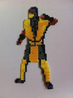 Mortal Kombat - Scorpion. Created from hama beads