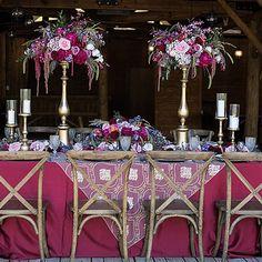 luxury wedding florist, tall centerpieces, marsala - www.bellacalla.com - Bella Calla - Denver Vail Aspen Florist