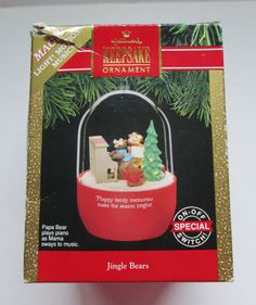 1991 Hallmark Christmas Ornament Jingle Bears by MrsDinkerson