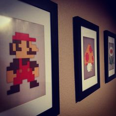 8-Bit, tempted to make these for my husbands office