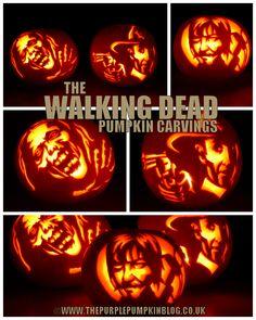 The Purple Pumpkin Blog: The Walking Dead Pumpkin Carvings 2013 [Crafty October - Create]