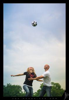 Soccer engagement photo