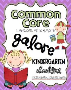 This Common Core State Standards checklist is for KINDERGARTEN!