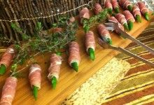 Asparagus wrapped prosciutto by DeAngelo's Catering- perfect appetizer!
