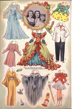 Printable Vintage paper dolls.....  WOW!!!! What Fun this is!!!!
