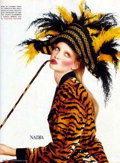 1992 - Nadja Auermann in Jean Paul Gaultier by Steven Meisel 4 Vogue