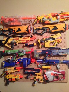 How To Organize Your Nerf Guns