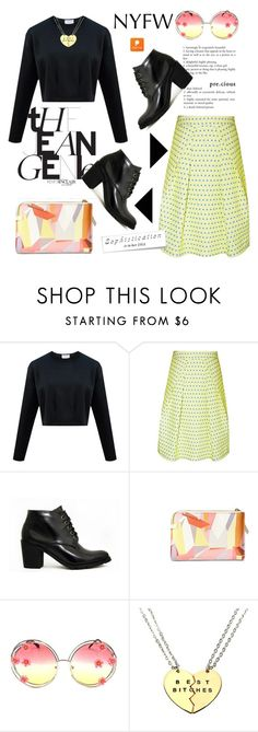 """""""NYFW with Popmap 52"""" by deeyanago ❤ liked on Polyvore featuring women's clothing, women, female, woman, misses, juniors and popmap"""