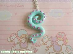 Pastel Octopus Tentacle Necklace by NerdyLittleSecrets on Etsy, $13.00