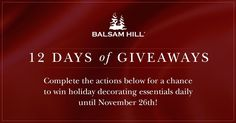 Join @balsamhill's 12 Days of Giveaways and be one of 12 daily winners of gorgeous decorating essentials! https://wn.nr/BESEtU
