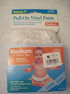 Vintage 1960s Empire Baby Pants Waterproof Vinyl Plastic
