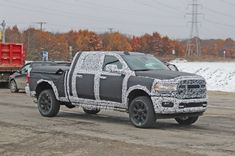 Stoking our flames of anticipation are spy photos of the Ram big brother, the Heavy Duty, due for the 2020 model year and sporting modern bodywork. Ram Trucks, Dodge Trucks, Dodge Mega Cab, 2019 Ram 1500, Dodge Dakota, Car Wallpapers, Monster Trucks, Specs, Vehicles